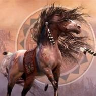 Leveranstid 1,5v. Indian häst, fyrkant, 80x60cm