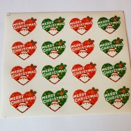 Klistermärke Jul hjärtan