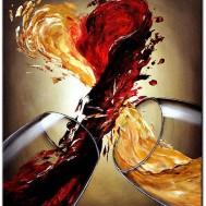 Leveranstid 1,5v - Vin kärlek, fyrkant 40x50cm