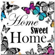 Leveranstid 1,5v - Home sweet home, fyrkant 40x40cm