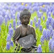 Leveranstid 1,5v - Buddha soulsearch, rund 60x50cm