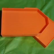 Pärltråg orange