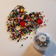 Rhinestone / bling pärlor i mix