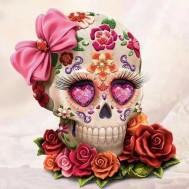 Diamond skull, fyrkant 30x30cm