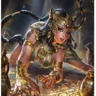 Egyptiskt guld, fyrkantig 60x80cm