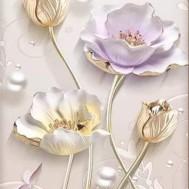 Vackra blommor, fyrkantig 40x60cm