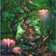 Skogs fantasi, fyrkant 60x80cm