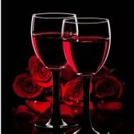 Röd vin, fyrkant 40x50cm