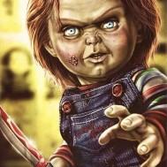 Chucky, rund 40x50cm