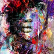 Abstrakt kvinna, fyrkant 60x80cm