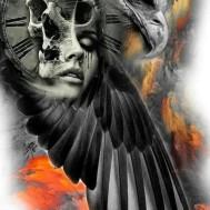 Dödens klocka, fyrkant 80x120cm
