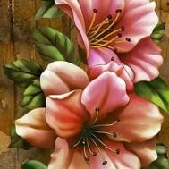Klättrande blommor, fyrkantig 50x60cm