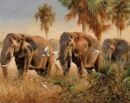 1,5-2v leveranstid - Elefant vandring - 60x50cm