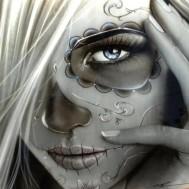Ghost girl, fyrkant 40x40cm