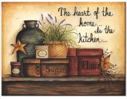 Home is in the kitchen, fyrkantig 50x40cm -