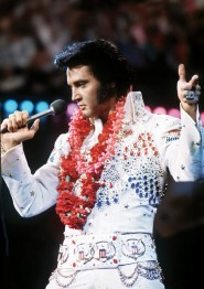 Elvis på scen, fyrkantig 50x70cm -