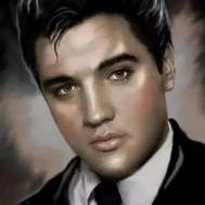 Leveranstid 1,5v - Elvis svartvit, fyrkant, 30x40cm