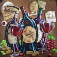 Leveranstid 1,5-2v - Vin konst, fyrkant 40x40cm