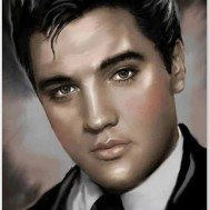 Leveranstid 1,5-2v, Diamondpainting, diamant tavla Elvis svartvit profil