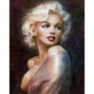 Leveranstid 1,5-2v, Diamondpainting, diamant tavla   Marilyn Monroe, fyrkantig 40x50cm