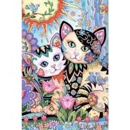 Katter konst, fyrkant 40x60cm