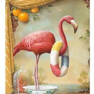 Flamingo sos, fyrkant 50x60cm