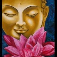 Buddha, fyrkant 50x70cm