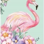 Flamingo, fyrkant 40x50cm