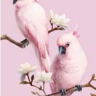Fåglar, fyrkant 40x50cm