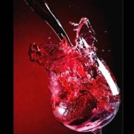 Rosé vin, fyrkant 30x40cm