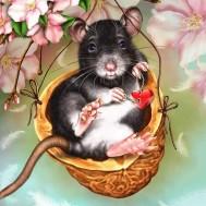 Råttan, fyrkant 50x50cm