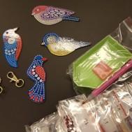 Nyckelringar 4 pack fåglar