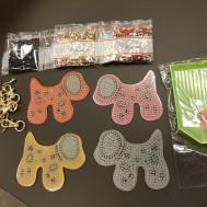 Nyckelringar 4 pack hundar