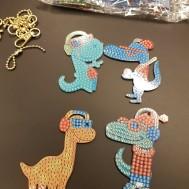 Nyckelringar 4 pack dinosaurie