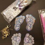 Nyckelringar 4 pack fötter