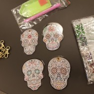 Nyckelringar 5 pack Sugar skull