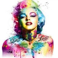 Marilyn Monroe färgglad, fyrkant 50x50cm