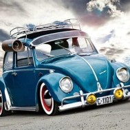 Bubbla blå, fyrkant 50x40cm