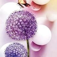 Blommor maskros, fyrkant 40x80cm