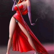 Jessica Rabbit, fyrkant 50x70cm