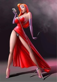 Jessica Rabbit, fyrkant 50x70cm -