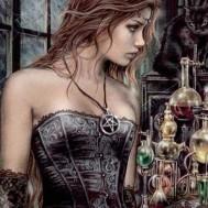 Kvinna Gothic, fyrkant 50x70cm