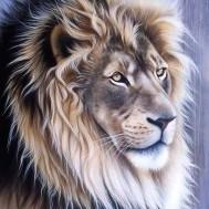 Lejon profil, fyrkant 40x50cm