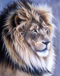 Lejon profil, fyrkant 40x50cm -