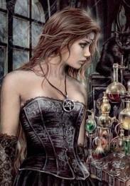 Kvinna Gothic, fyrkant 50x70cm -