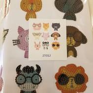 Stickers djur med glasögon
