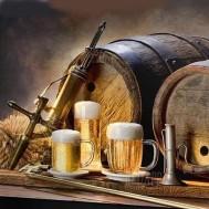 Öl tunna, rund eller fyrkantig 50x40cm