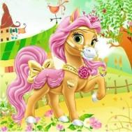 Leveranstid 1,5-2v - Pony bebis tecknad, rund 40x40cm