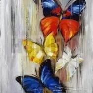 Fjärilar, fyrkant eller rund 30x60cm