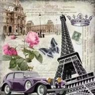 Paris, rund eller fyrkantig 50x50cm